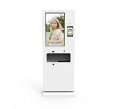 hand sanitizer advertising, face recognition kiosk